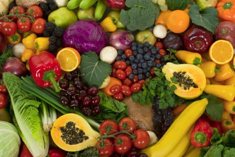 frutas y verduras colores