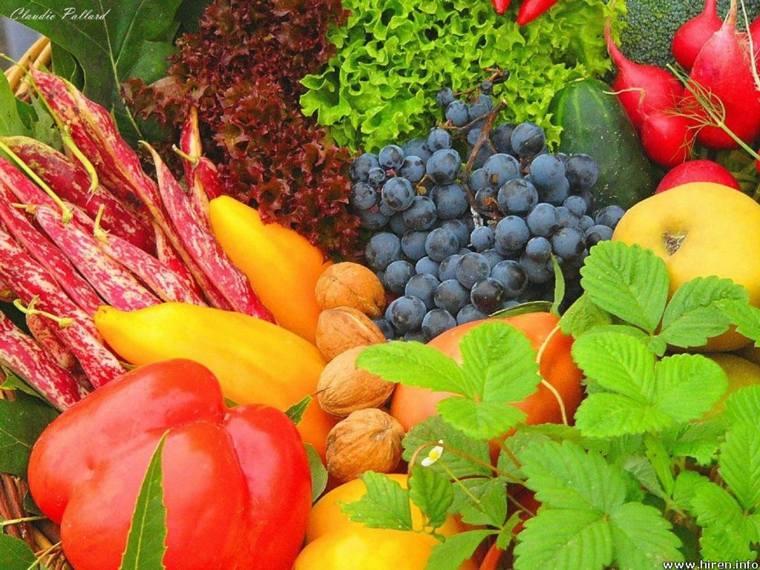 frutas y verduras varias
