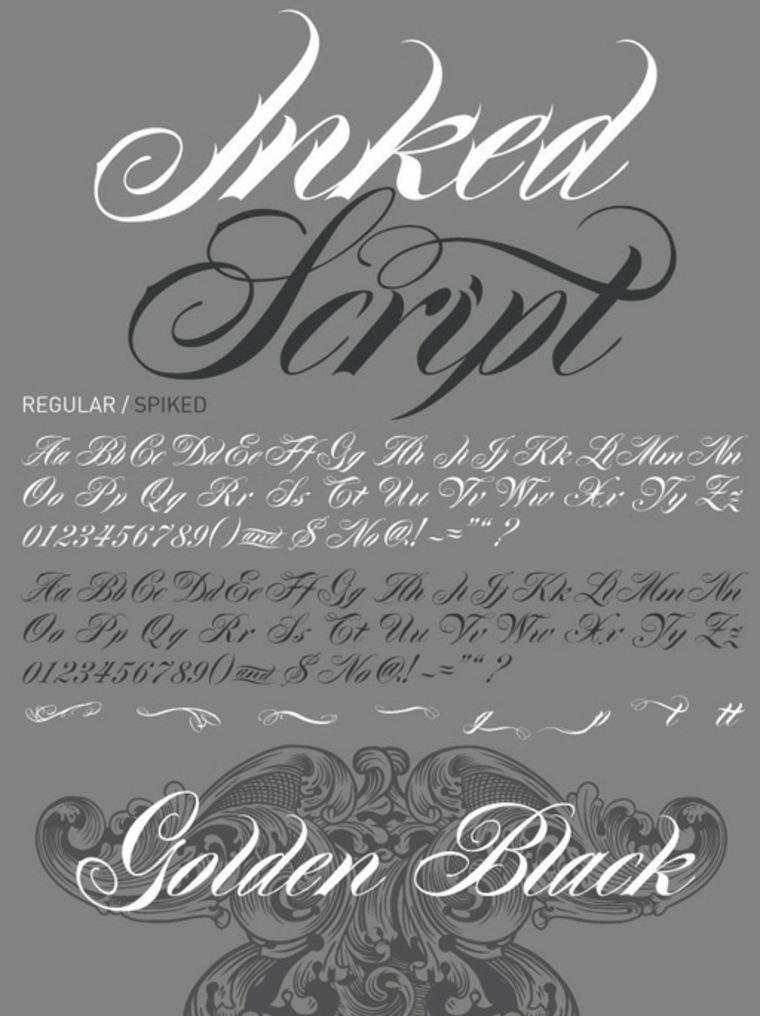 Fuente de tatuaje Inked Script