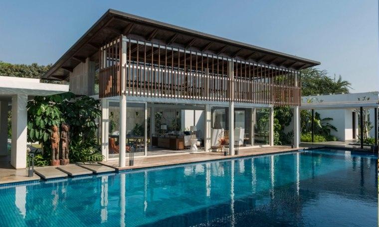 la casa NG-piscina