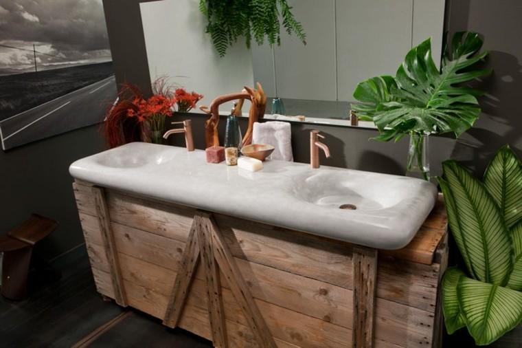 lavamanos baño tradicional rustico