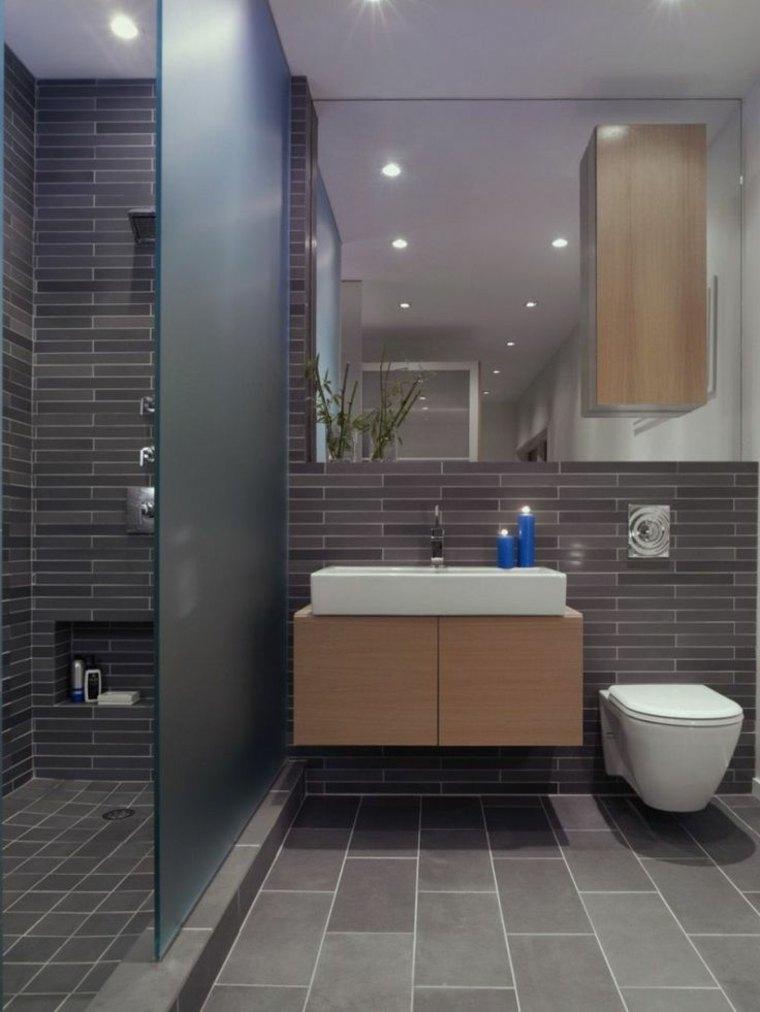 cabina de ducha con puerta de vidrio