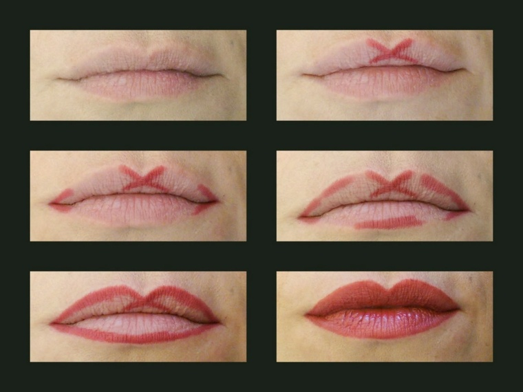 maquillaje de labios-contornos-facil