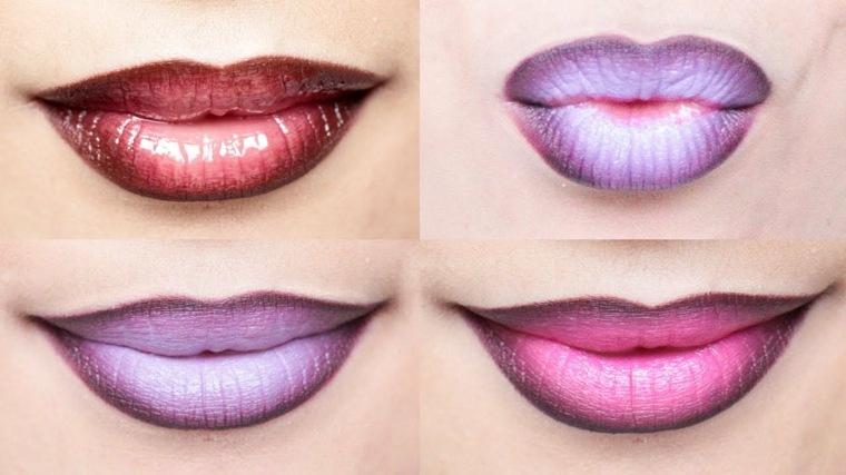 maquillaje de noche-labios-modernos