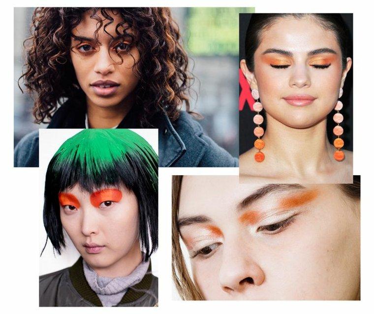 Maquillaje de moda en tonos naranja
