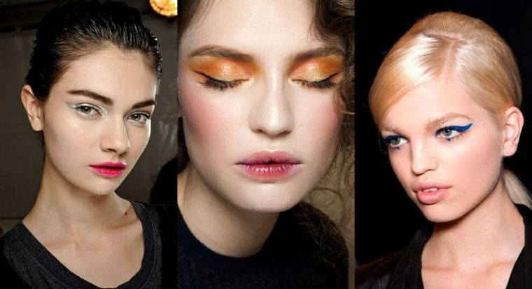 Tendencias en maquillaje con colores intensos