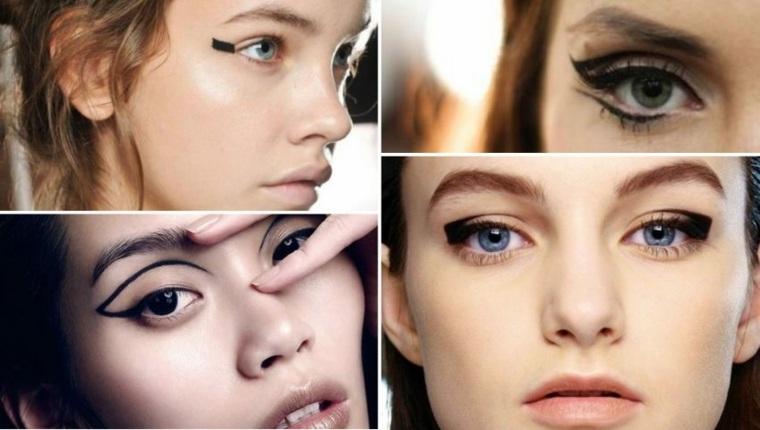 Maquillaje de moda con delineador
