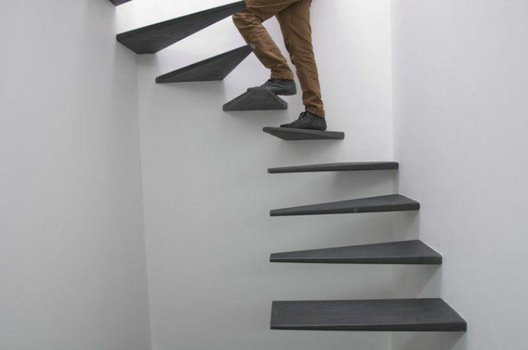 modelos de escaleras-flotantes-negro