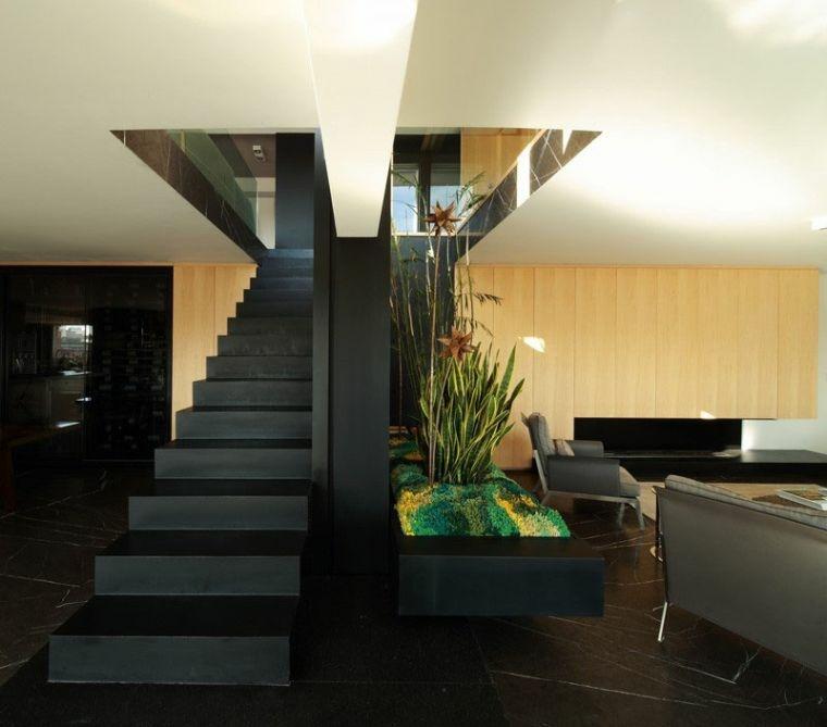 modelos de escaleras-negras-interiores