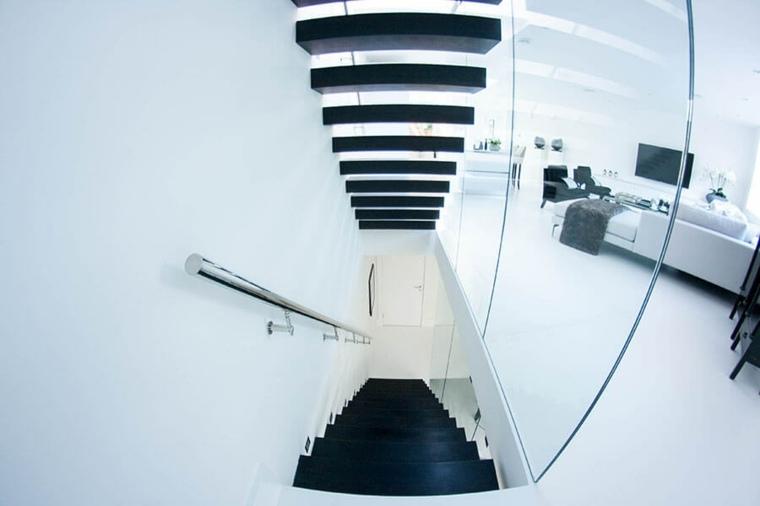 modelos de escaleras-negro-interiores