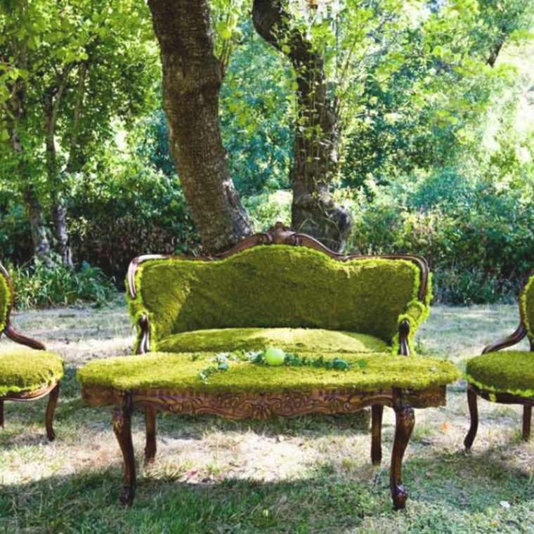 Cobertura de musgo para muebles