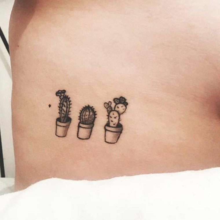 Tatuaje Cactus tattoos pequeños con grandes significados - inspírate con estos