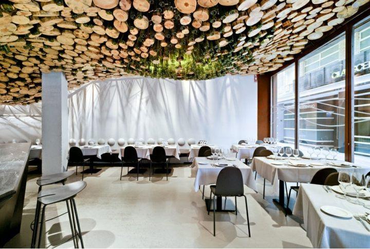 restaurante diseño botellas cristal