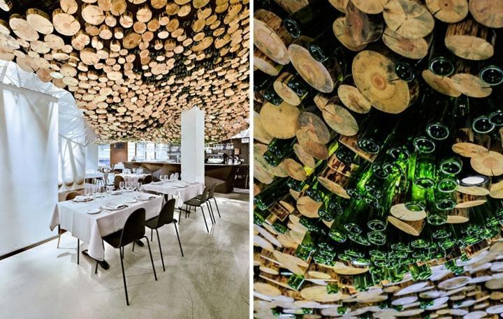 restaurante diseño mesas manteles