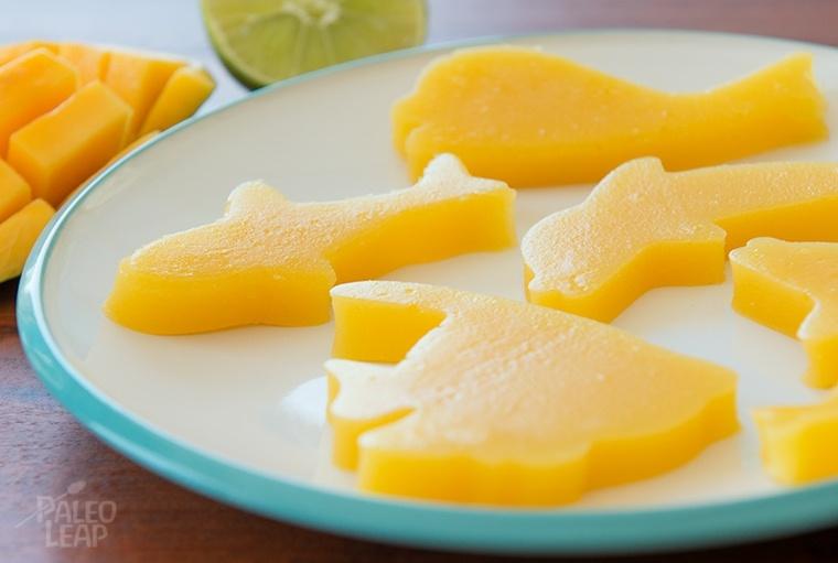 trozos de mango con formas de animales
