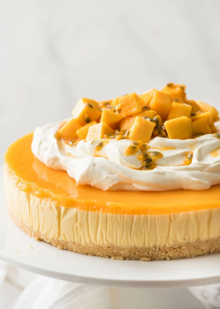 Tarta de queso de mango