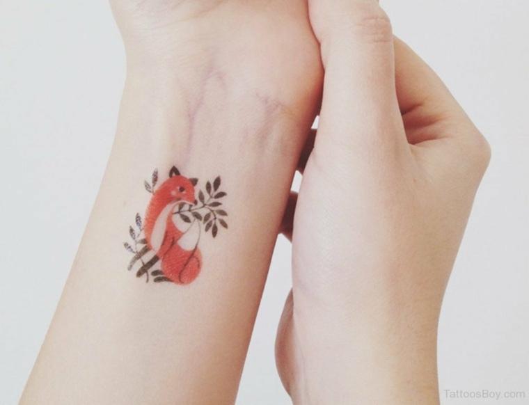 tatuaje de un Zorro