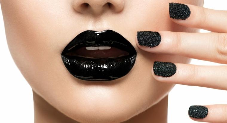 tips de belleza-maquillaje-labios-negros