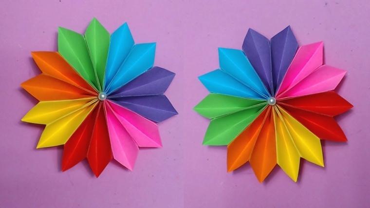 trabajos desde casa manualidades-flores-papel