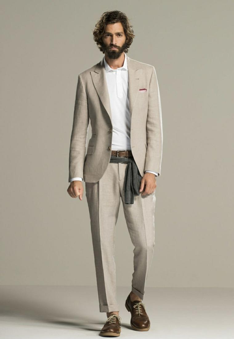 trajes para hombre-color-gris-claro