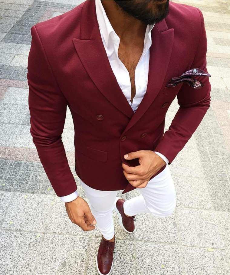 d89b7bf76 View in gallery trajes para hombre-color-rojo-blanco Trajes para hombre –  No te pierdas las tendencias modernas para el 2018 ...