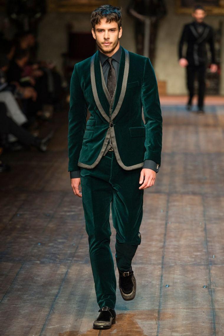trajes-para-hombre-estilo-modernos-color-verde-terciopelo