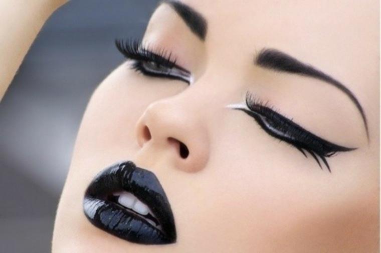 trucos para maquillarse-labios-negro