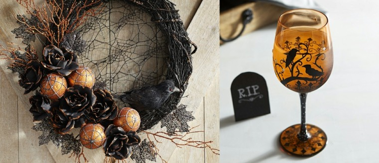 adornos halloween-decorar-mesa