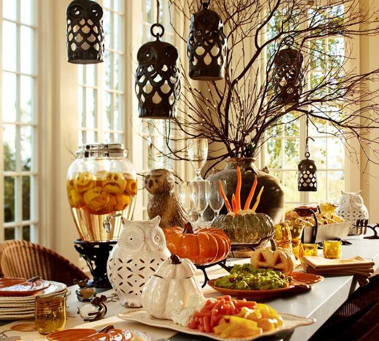 adornos para halloween-mesa