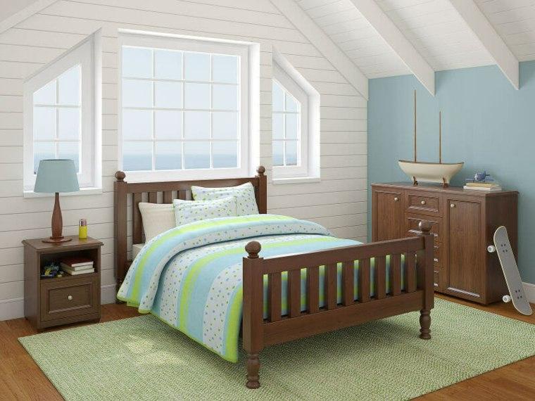 diseño de dormitorio en el atico
