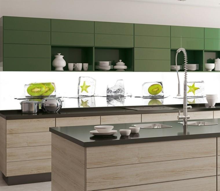 colores para cocinas pequenas-modernas