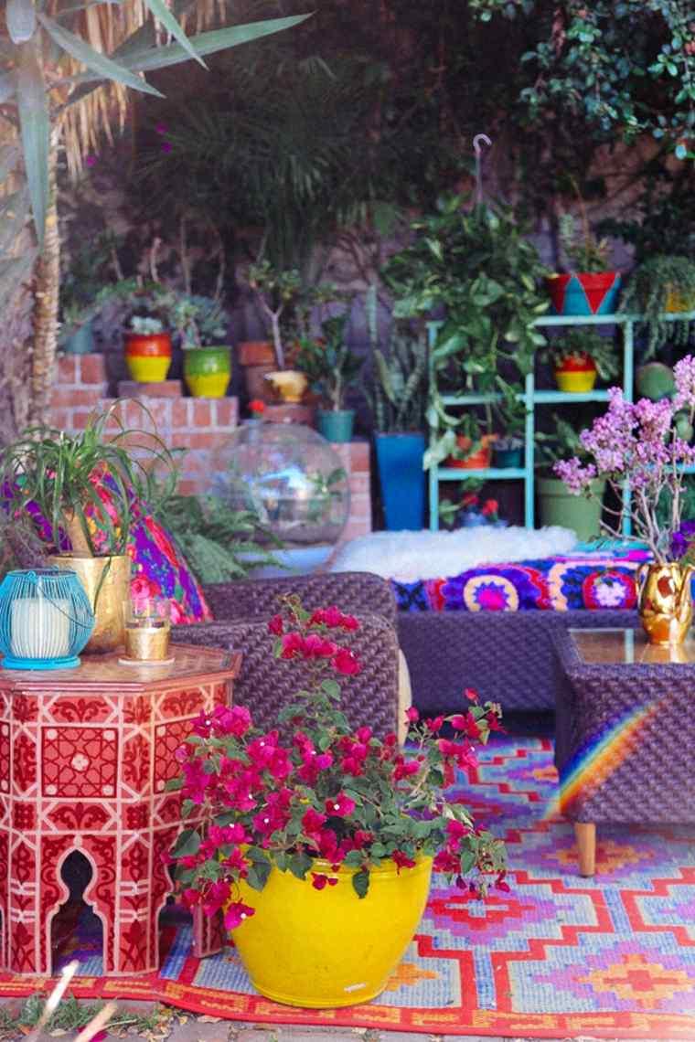 Decoración de jardines de estilo étnico