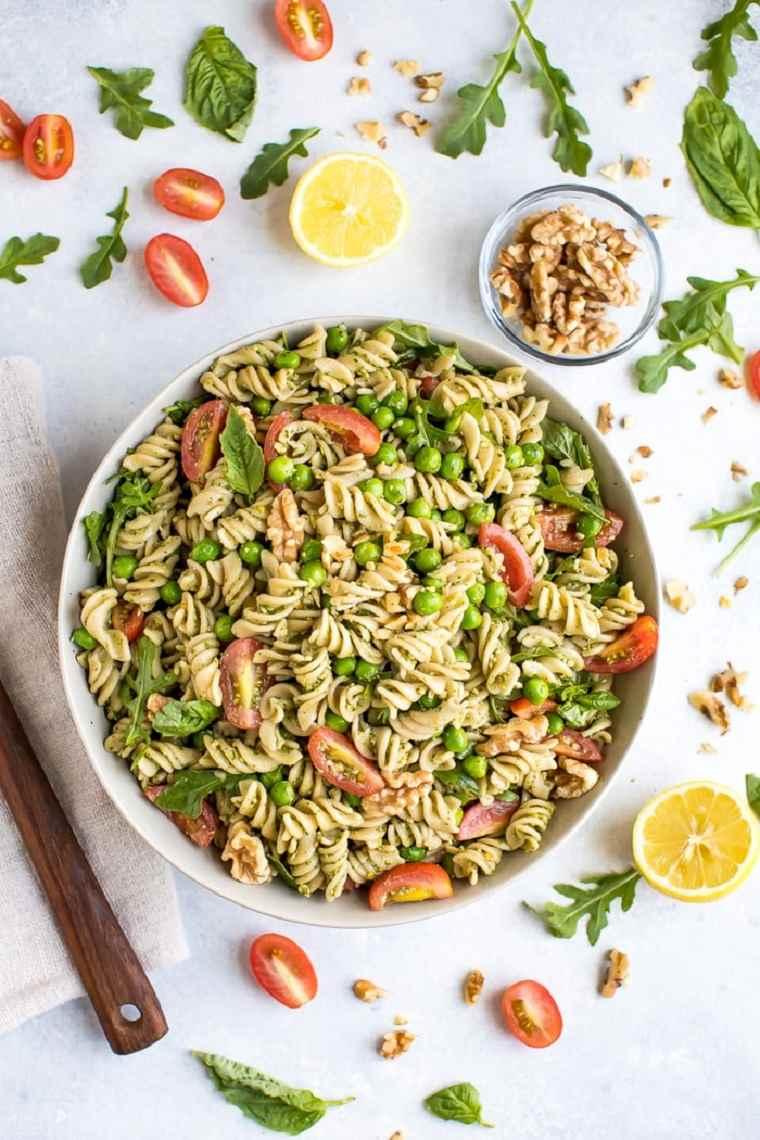 comida vegetariana fácil ideas-ensalada-pasta-opciones