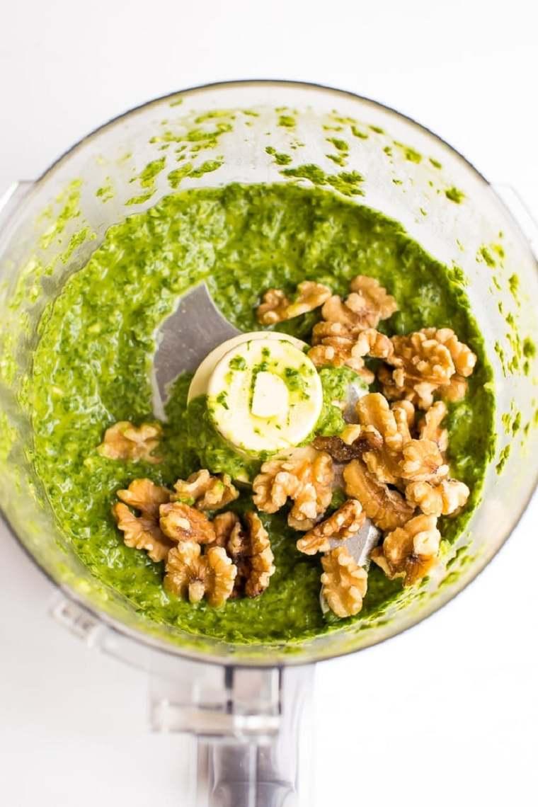 comida vegetariana fácil-ideas-ensalada-pasta-pesto