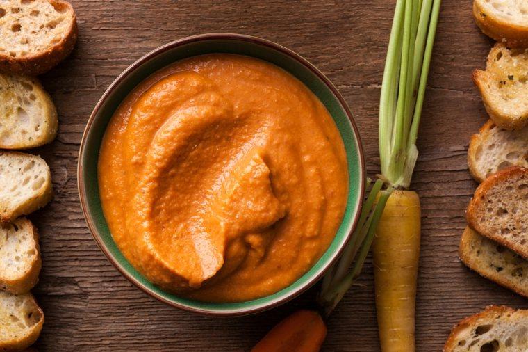 como hacer hummus-zanahoria