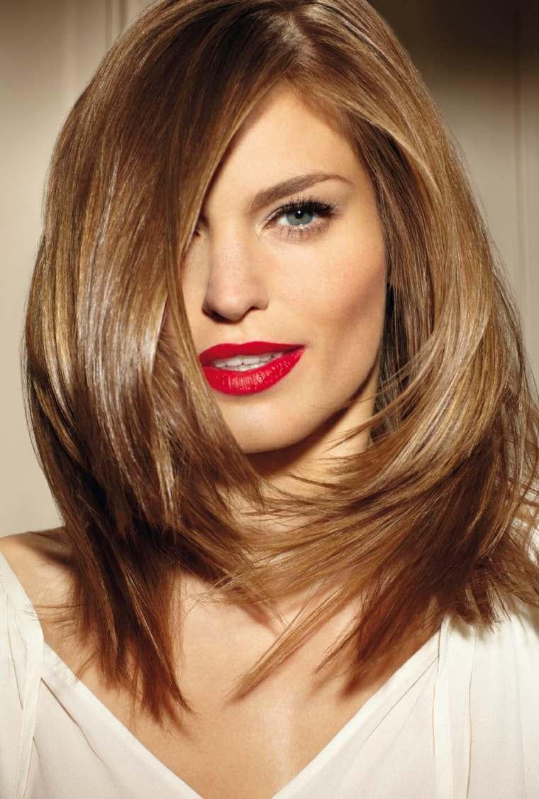 cortes de cabello de moda-media-melena