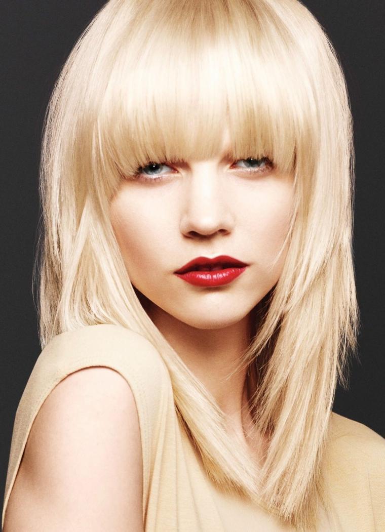 cortes de cabello para dama-media-melena