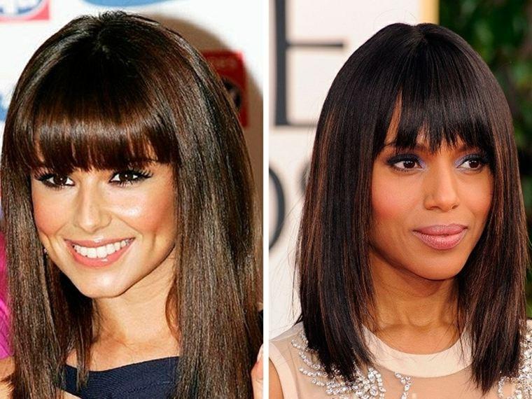 cortes de pelo para mujer-flequillo-recto