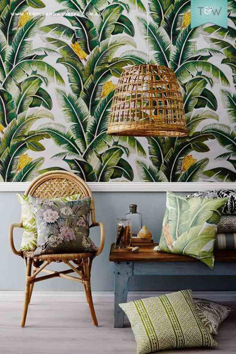 El papel tapiz tropical