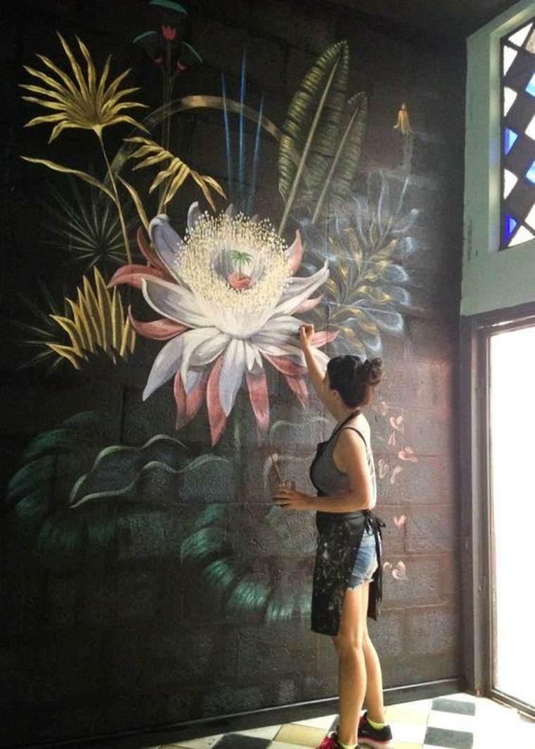 Tendencias en decoracion de paredes 2019 -Mural hiperrealista