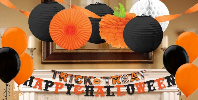 decoracion halloween-negro-naranja