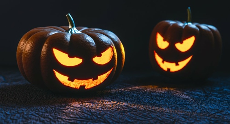 decoracion para halloween-calabazas