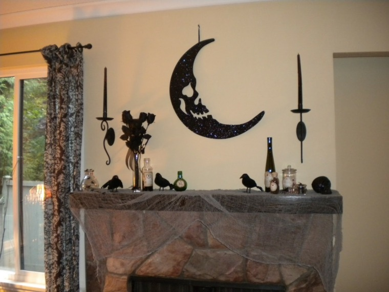 decoracion para halloween-chimenea