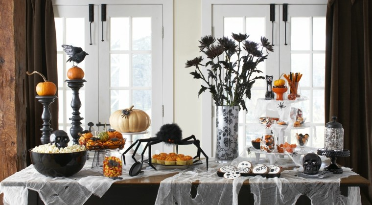 decoracion para halloween-mesa-interior