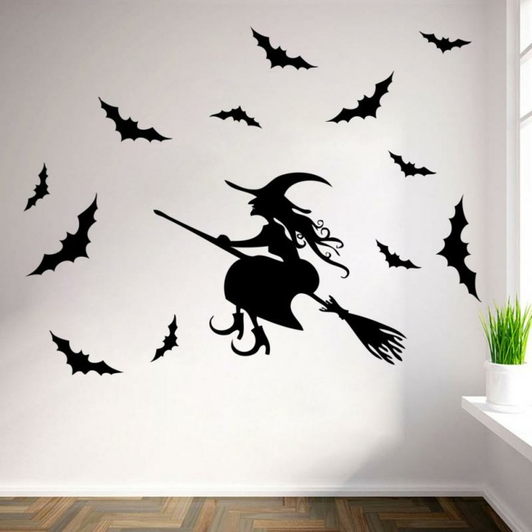 decoracion para halloween-paredes-bruja