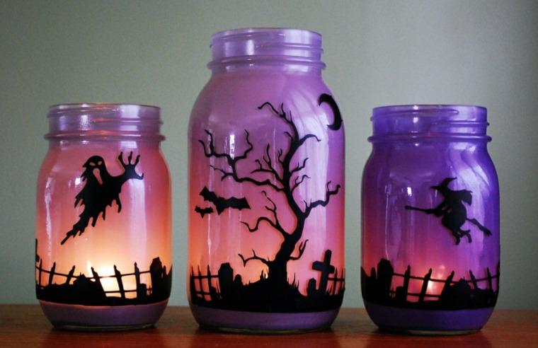 decoracion para halloween-tarros
