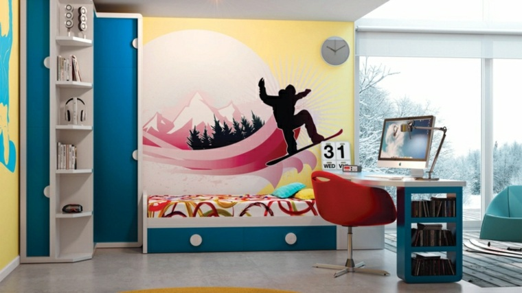 diseño-de-habitación-infantil-surf