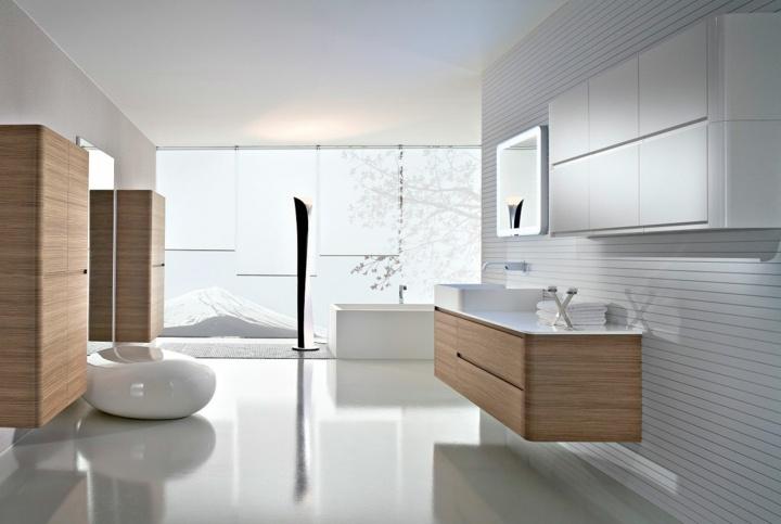 diseños de baños colores claros