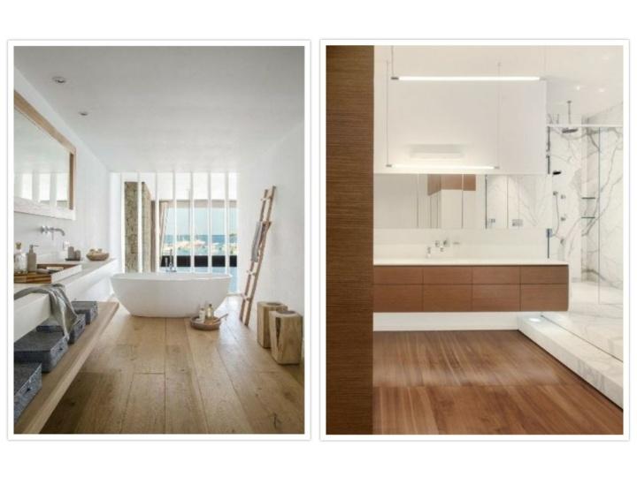 diseños de baños efectos modernos
