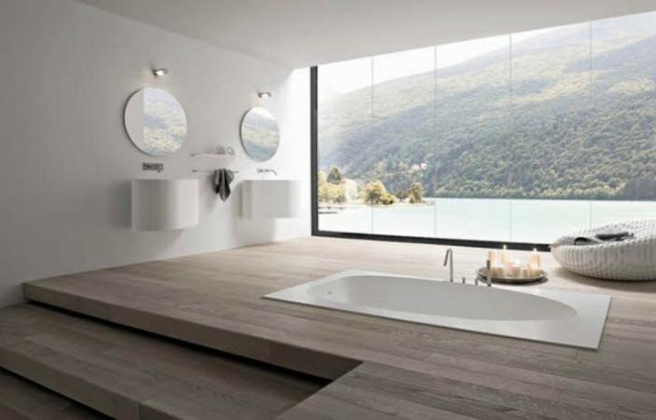 diseños de baños especiales muebles